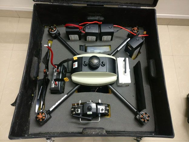 DGCA type approved Survey Grade PPK UAV / Drone 'Lookout VTOL kit with carrying box.