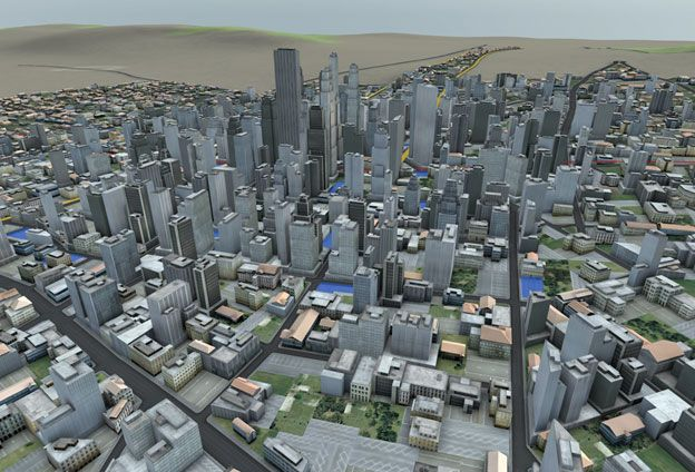 Sample '3D City Model' of an urban area.