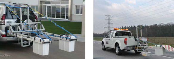 Ground penetrating Radar (GPR) Survey with IDS RIS Hi-Pave Horn Antennas.